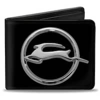 Chevrolet Impala Deer Emblem Black Silver Bi Fold Wallet - One Size Fits most