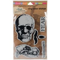 """Stampendous Andy Skinner Cling Stamps 9""""X5.25""""-Skuldoggery"""