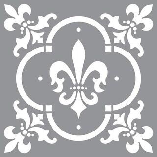 """Americana Decor Stencil 12""""X12""""-Fleur De Lis Tile"""
