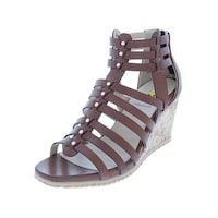 1d542a38fe8 Shop XOXO Womens Sarelia Wedge Sandals Studded Caged - Free Shipping ...