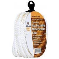 Wellington 16358 Twisted Nylon Rope, Silvery White