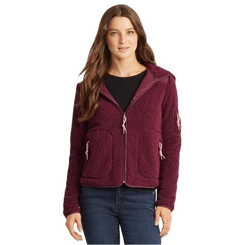 Aeropostale Womens Bear Fleece Jacket