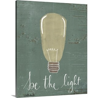 """""""Be the light"""" Canvas Wall Art"""