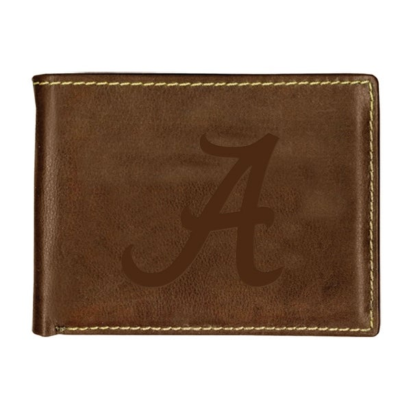 University of Alabama Contrast Stitch Bifold Leather Wallet
