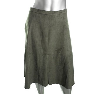 Vince Camuto Womens Faux Suede Casual A-Line Skirt