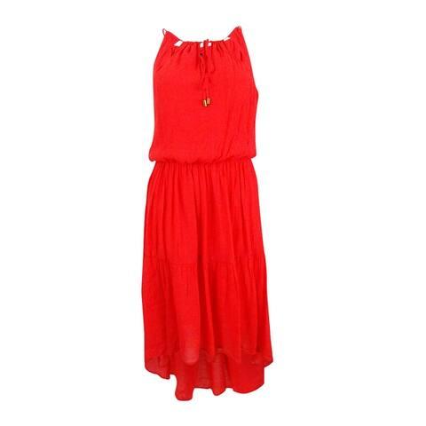 Sangria Women's Blouson High-Low Dress - Hot Red
