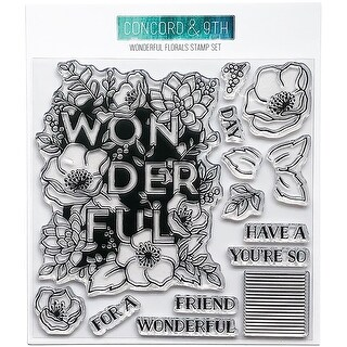 """Concord & 9Th Clear Stamps 6""""X6""""-Wonderful Florals"""