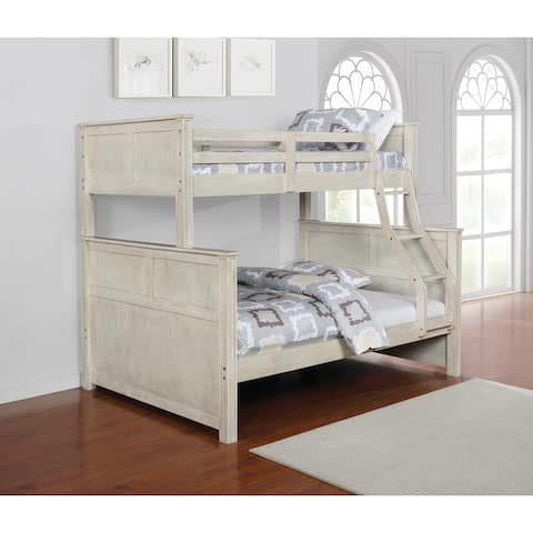 Hanscom Antique White Twin Over Full Bunk Bed