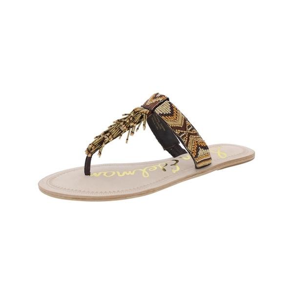 Sam Edelman Womens Anella Thong Sandals Beaded Open Toe