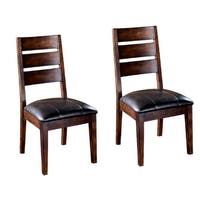 """""""Larchmont Dining UPH Side Chair (2/CN) Burnished Dark Brown Larchmont Dining UPH Side Chair 2/CN Burnished Dark Brown"""""""