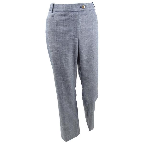 Calvin Klein Women's Plus Size Denim Modern Straight-Leg Pants. Opens flyout.