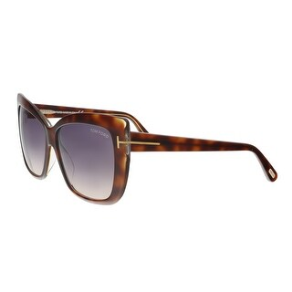 Tom Ford FT0390/S 53F IRINA Medium Havana Oversized Cat Eye Sunglasses - 59-13-140