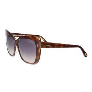 2b1e2022b74 Tom Ford FT0390 S 53F IRINA Medium Havana Oversized Cat Eye Sunglasses - 59-