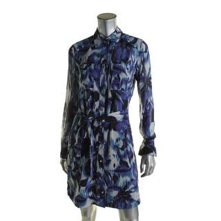 Eliza J Womens Shirtdress Chiffon Printed - 14