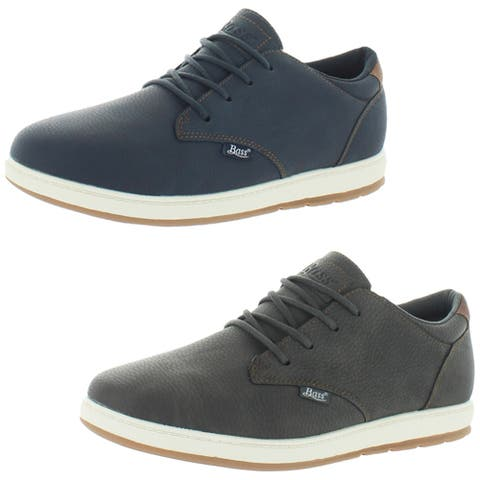 G.H. Bass & Co. Men's Percy WX B Faux Leather Pebbled Casual Oxford Sneaker