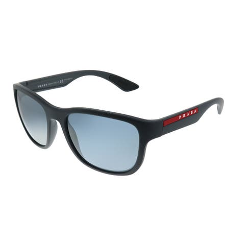 Prada Linea Rossa Active PS 01US UFK5L0 Unisex Grey Rubber Frame Grey Mirror Lens Sunglasses