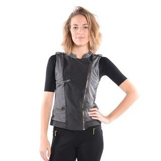 Scarlett Knit Vest In Charcoal