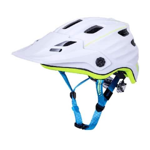 Kali Protectives Bike Helmet Maya 2.0 Revolt (White/Fluo Yellow, S/M)