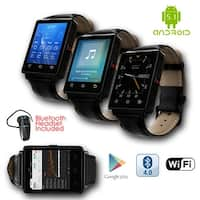 Indigi® 2017 GSM Unlocked 3G SmartWatch & Phone + Android 5.1 + Bluetooth 4.0 + WiFi + GPS + Heart Rate + Bluetooth headset