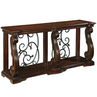 Alymere Sofa Table Rustic Brown Alymere Sofa Table Rustic Brown
