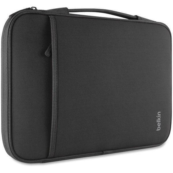 "Belkin Carrying Case (Sleeve) for 11"" MacBook Air, Notebook, Tablet - Black - Wear Resistant, Tear Resistant - Neoprene, Fleece"