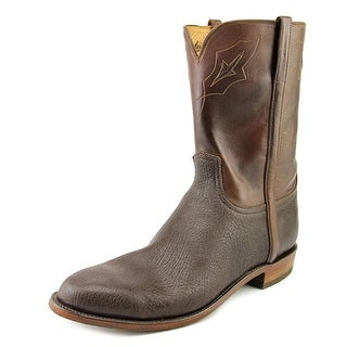 Lucchese Amazon Bn Sheep/Wy Burn Men E Round Toe Leather Brown Western Boot