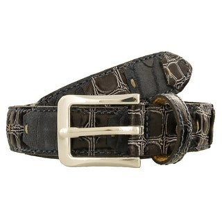 Renato Balestra LEO BLU E NERO Blue/Black Leather Mens Belt-38.5in