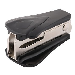 School Portable Metal Jaw Style Hand Locking Staple Remover Black Silver Tone