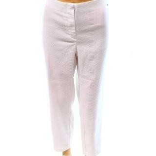 Alfani NEW White Women's Size 12 Snakeskin Skinny Ankle Dress Pants