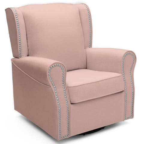 Delta Children Middleton Upholstered Glider Swivel Rocker Chair