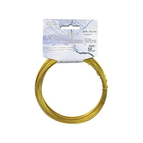 Dazzle It Aluminum Wire 18ga Rnd 30ft Gold