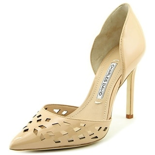 Charles David Contessa Women Pointed Toe Patent Leather Nude Heels