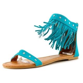 Penny Loves Kenny Totem Women Open Toe Suede Blue Sandals