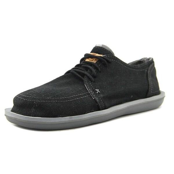 Sanuk Vista Men Round Toe Canvas Black Sneakers