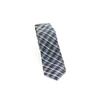 Black Brown 0656 NEW Green Blue Plaid Men's Classic Neck Tie Silk