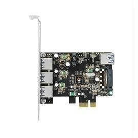 Siig 4 Ports Usb 3.0 To Pcie-Enabled Desktop High Performance Adapter Card With 15Pin Sata Power (Ju-P40611-S2)