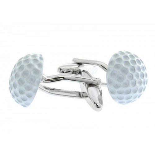 White Golf Ball Golfer Sports Cufflinks