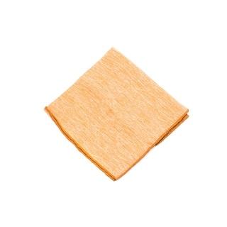 Brunello Cucinelli Men's Solid Orange Linen Pocket Square