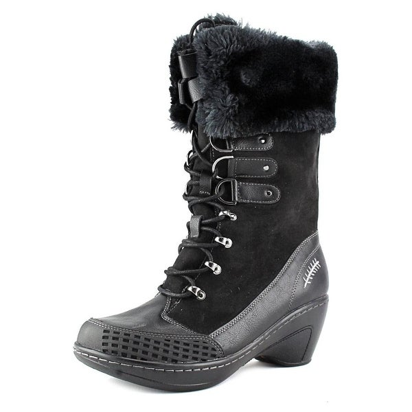 JBU by Jambu Scandinavia Women Round Toe Synthetic Black Winter Boot