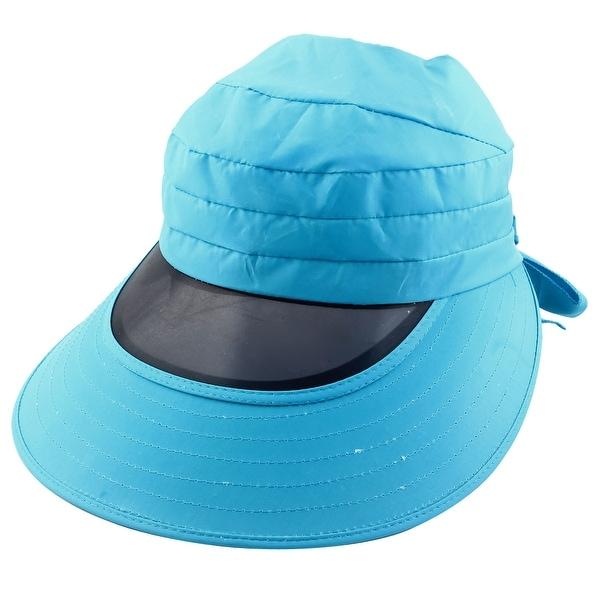 383b7d99da3 Outdoor Cycling Summer Beach Wide Brimmed Cap Sun Protective Visor Hat Sky  Blue