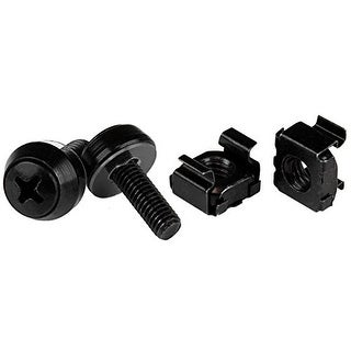 Startech Screws & Cage Nuts - 50 Pack, Black Cabscrewm5b