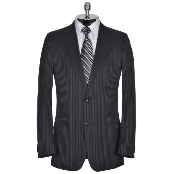 df9b2433f $550 HUGO BOSS Red Label Mens Sportcoat 40 Long 40L Blue & Gray Stripes  Anriso