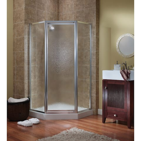 """Foremost TDNA0470 Tides 70"""" High x 55-1/2"""" Wide Framed Shower Enclosure with Three 3/16"""" Clear Glass Panels"""