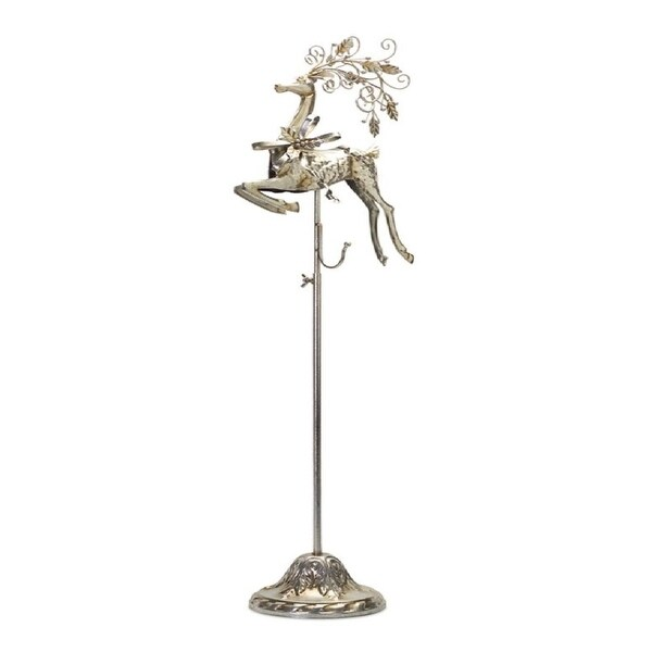 Pack of 2 Metallic Colored Adjustable Reindeer Wreath Holder Stands 37""