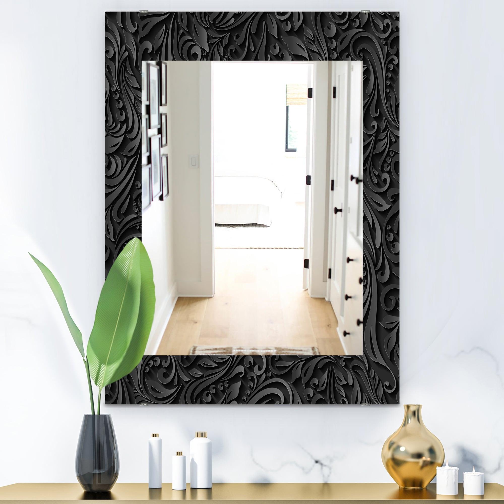 Designart Obsidian Impressions 10 Modern Mirror Wall Mirror On Sale Overstock 28558814
