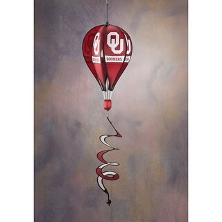 Bsi Products Inc Oklahoma Sooners Hot Air Balloon Spinner Hot Air Balloon Spinner