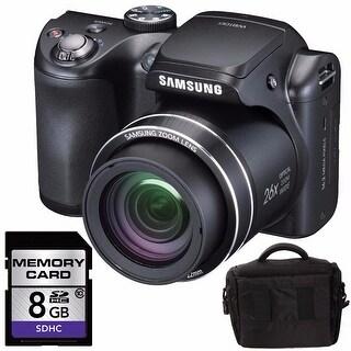 Samsung WB100 Digital Camera Bundle (Black)