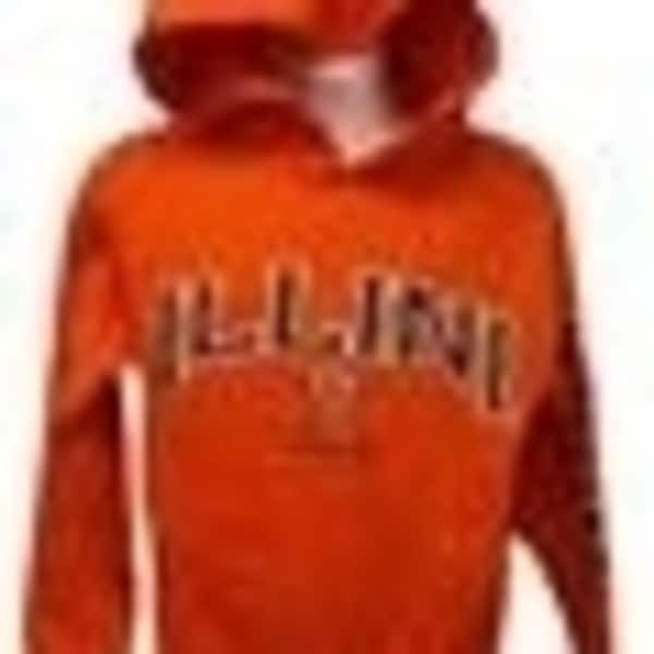 Illinois Fighting Illini YOUTH Sizes S-M-L-XL Orange Navy Hoodie 35