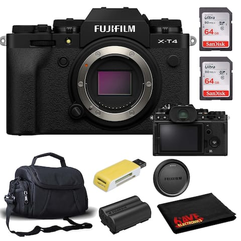 FUJIFILM X-T4 Mirrorless Digital Camera (Body Only, Black) Accessory