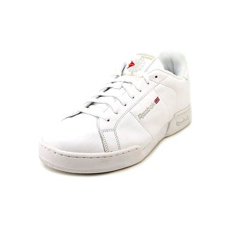 Reebok NPC II Men  Round Toe Leather White Sneakers